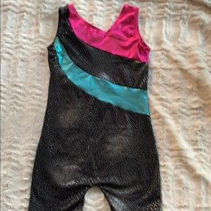 NWOT gymnastics leotard with shorts